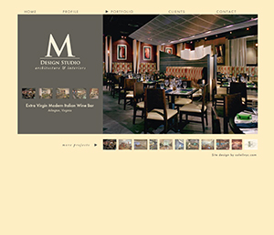 web design for M Design Studio
