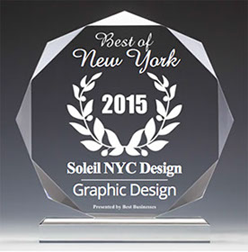 Soleil NYC Design 2015 Best Businesses of New York Award for Graphic Design